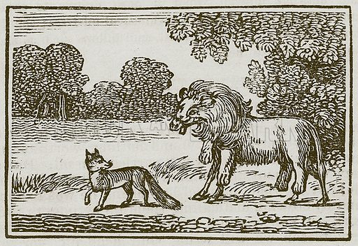 The Fox and the Ass. Illustration for The Fables of Aesop by Samuel Croxall (Milner & Sowerby, 1860).