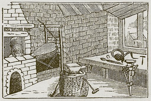 The Viper and the File. Illustration for The Fables of Aesop by Samuel Croxall (Milner & Sowerby, 1860).