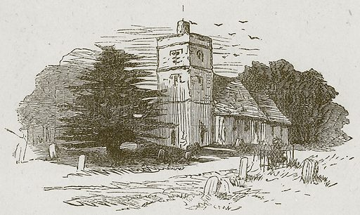 Church. Illustration for Lessons from Noble Lives (Wesleyan, c 1870).