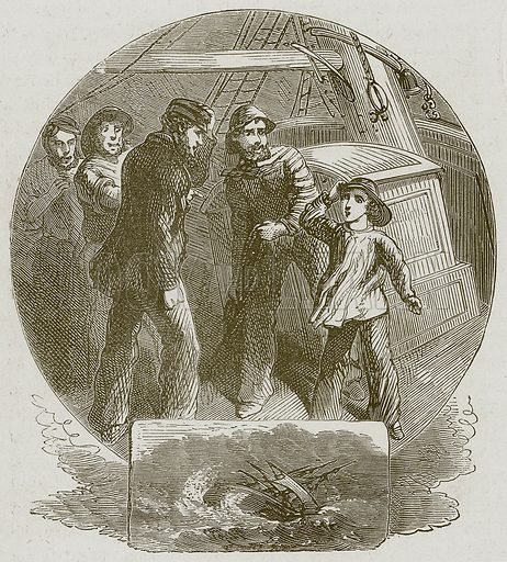 """""""I'll take the Ship in, Sir."""" Illustration for Lessons from Noble Lives (Wesleyan, c 1870)."""