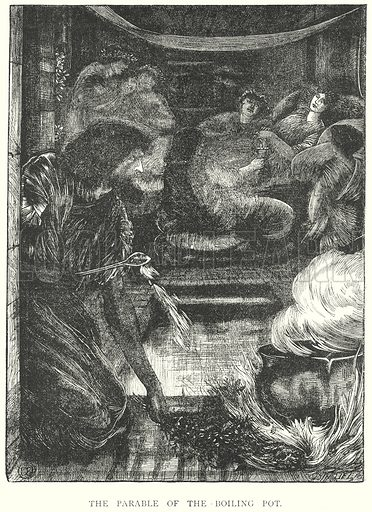The Parable of the Boiling Pot. Illustration from Art Pictures from the Old Testament (Edwin Dalton, c 1890).