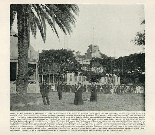 Royal Palace, Honolulu, Sandwich Islands. From a Portfolio of Photographs (Werner, c 1890).