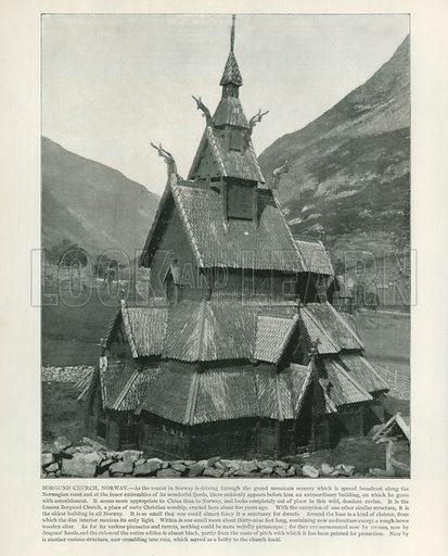 Borgund Church, Norway. From a Portfolio of Photographs (Werner, c 1890).