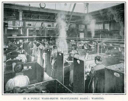 In a Public Wash-House (Marylebone Road): Washing