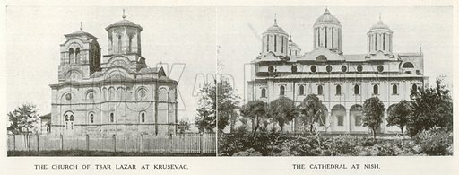The Church of Tsar Lazar at Krusevac. The Cathedral at Nish. An Outline of Christianity (Waverley, c 1900).