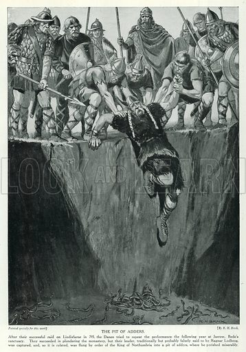The Pit of Adders. Illustration for Story of the British Nation (Hutchinson, c 1920).