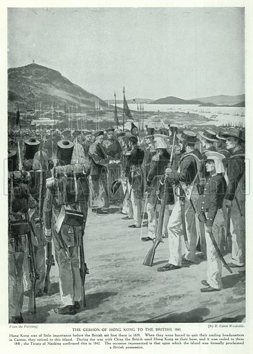 The Cession of Hong Kong to the British, 1841. Illustration for Story of the British Nation (Hutchinson, c 1920).