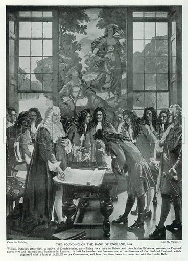 The Founding of the Bank of England, 1694 stock image | Look and Learn