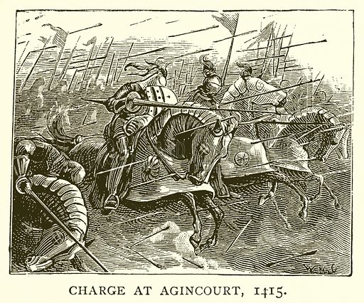 Charge at Agincourt, 1415