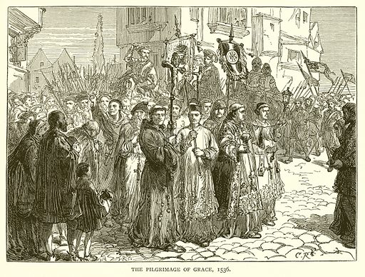 The Pilgrimage of Grace, 1536. Illustration for the Historical Scrap Book (Cassel, c 1880).