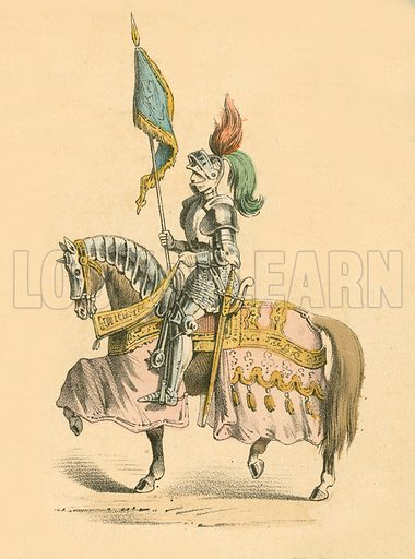 Knight in armour. Victorian scrap.