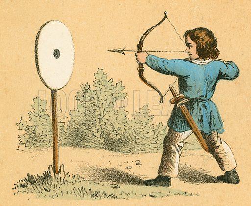 Archery.  Victorian scrap.