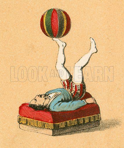 Juggler.  Victorian scrap.