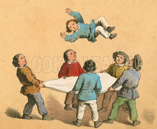 Children's game.  Victorian scrap.