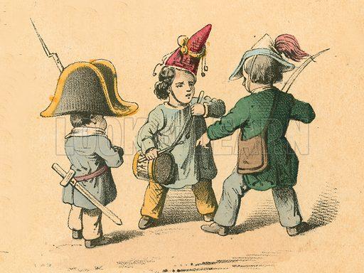 Children's war games. Victorian scrap.