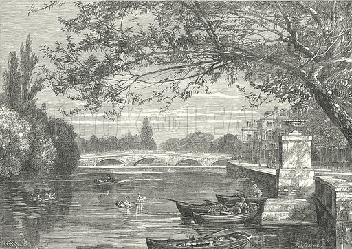 Bridge over the Ouse, Bedford. Illustration for Our Own County (Cassell, c 1880).