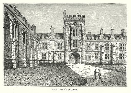 The Queen's College. Illustration for Our Own County (Cassell, c 1880).