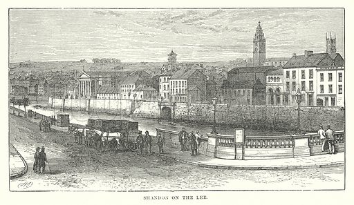 Shandon on the Lee. Illustration for Our Own County (Cassell, c 1880).