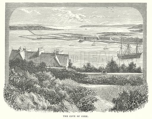 The Cove of Cork. Illustration for Our Own County (Cassell, c 1880).