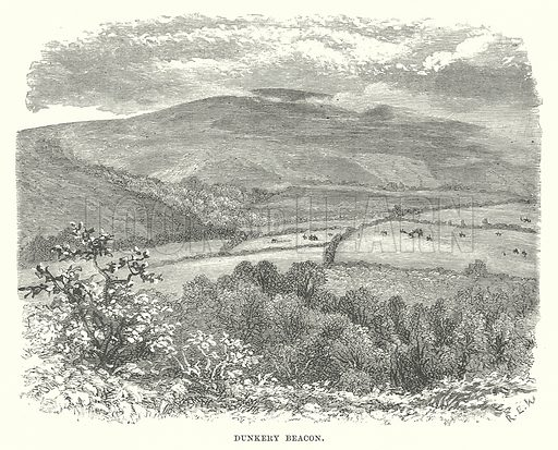 Dunkery Beacon. Illustration for Our Own County (Cassell, c 1880).