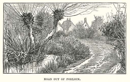 Road Out of Porlock. Illustration for Our Own County (Cassell, c 1880).