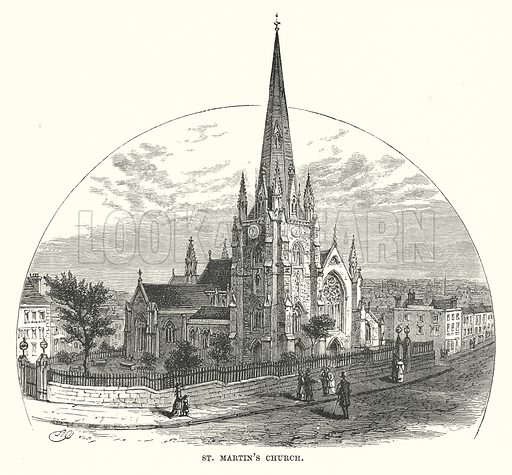 St Martin's Church. Illustration for Our Own County (Cassell, c 1880).