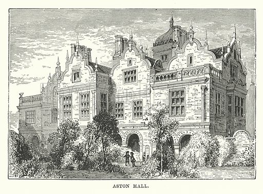 Aston Hall. Illustration for Our Own County (Cassell, c 1880).