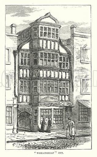 """Wheatsheaf"" Inn. Illustration for Our Own County (Cassell, c 1880)."