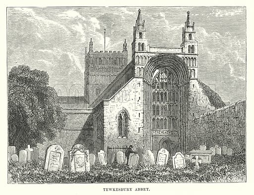 Tewkesbury Abbet. Illustration for Our Own County (Cassell, c 1880).