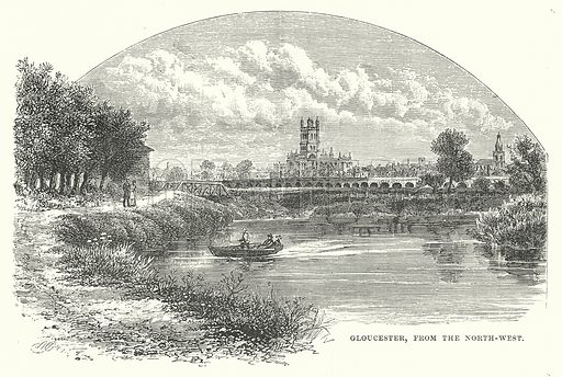 Gloucester, from the North-West. Illustration for Our Own County (Cassell, c 1880).