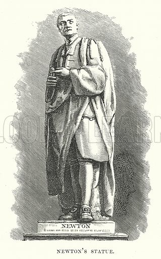 Newton's Statue. Illustration for Our Own County (Cassell, c 1880).