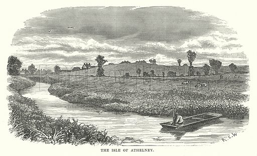 The Isle of Athelney. Illustration for Our Own County (Cassell, c 1880).