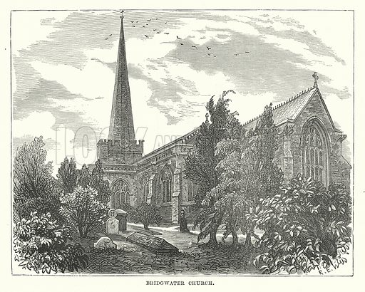 Bridgwater Church. Illustration for Our Own County (Cassell, c 1880).