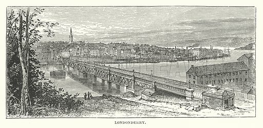 Londonderry. Illustration for Our Own County (Cassell, c 1880).