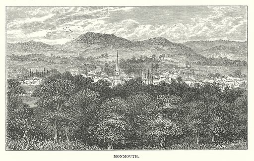Monmouth. Illustration for Our Own County (Cassell, c 1880).