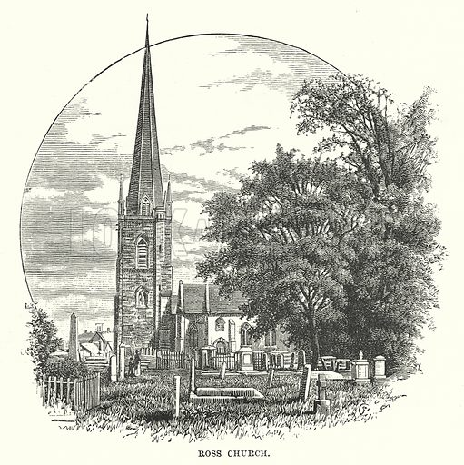 Ross Church. Illustration for Our Own County (Cassell, c 1880).
