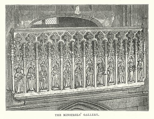The Minstrels' Gallery. Illustration for Our Own County (Cassell, c 1880).