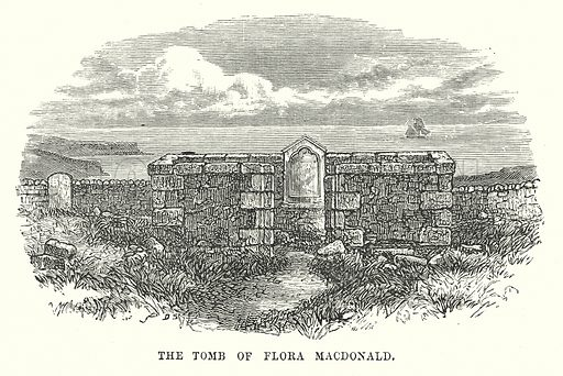 The Tomb of Flora Macdonald. Illustration for Our Own County (Cassell, c 1880).