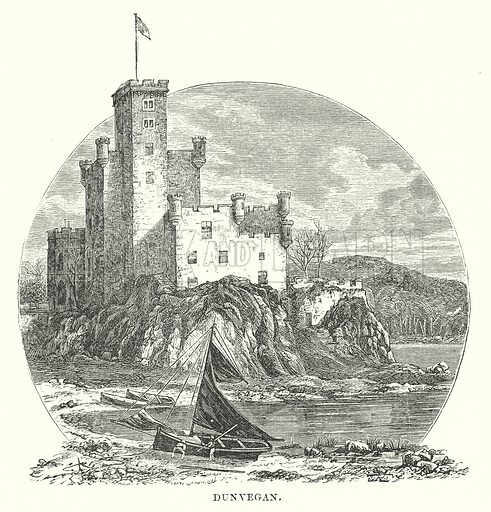 Dunvegan. Illustration for Our Own County (Cassell, c 1880).