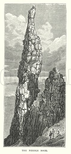 The Needle Rock. Illustration for Our Own County (Cassell, c 1880).