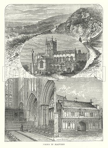Views in Malvern. Illustration for Our Own County (Cassell, c 1880).