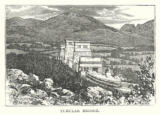 Tubular Bridge. Illustration for Our Own County (Cassell, c 1880).