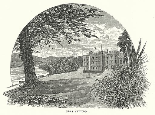 Plas Newydd. Illustration for Our Own County (Cassell, c 1880).