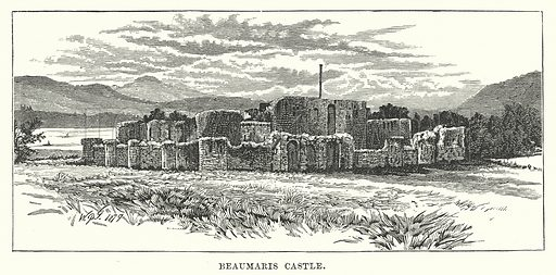 Beaumaris Castle. Illustration for Our Own County (Cassell, c 1880).