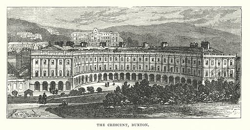 The Crescent, Buxton. Illustration for Our Own County (Cassell, c 1880).