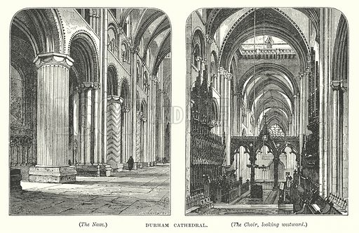 Durham Cathedral. Illustration for Our Own County (Cassell, c 1880).