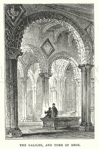 The Galilee, and Tomb of Bede. Illustration for Our Own County (Cassell, c 1880).