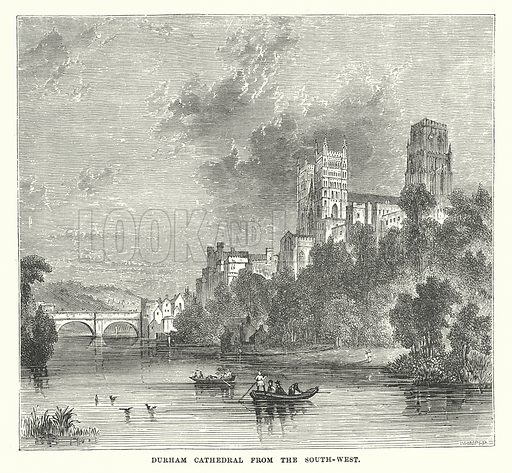 Durham Cathedral from the South-West. Illustration for Our Own County (Cassell, c 1880).