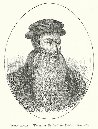 John Knox. Illustration for Our Own County (Cassell, c 1880).