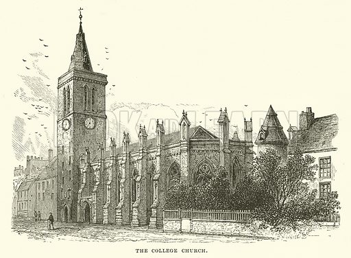 The College Church. Illustration for Our Own County (Cassell, c 1880).